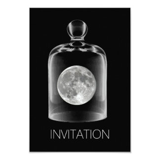 Crystal Glass Moon Night Club Party Vip Invitation