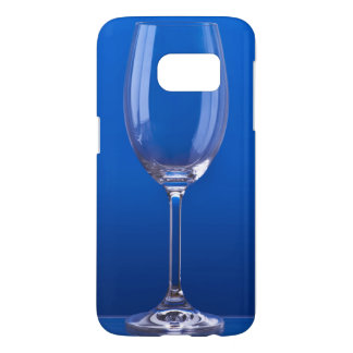 Crystal glass with luminous blue bottom samsung galaxy s7 case