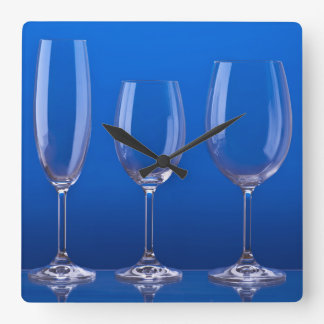 Crystal glasses of Bohemianism Square Wall Clock