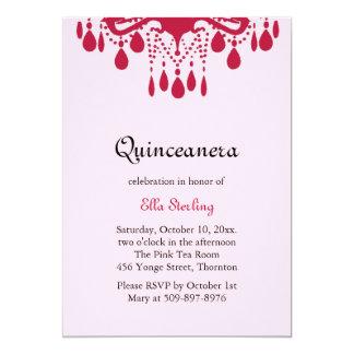 Crystal Grand Ballroom Birthday Invitation (red)