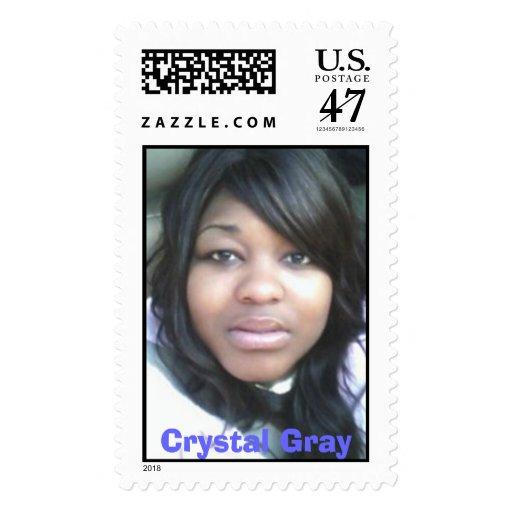 Crystal Gray Stamp