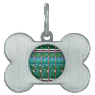 CRYSTAL Green Graphic Pattern Decoration GIFTS Pet Name Tag
