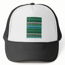 CRYSTAL Green Graphic Pattern Decoration GIFTS Trucker Hat