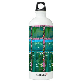 CRYSTAL Green Graphic Pattern Decoration Water Bottle