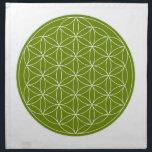 "Crystal Grid Cloth - Flower Of Life<br><div class=""desc"">Flower of life sacred geometry template for DIY crystal grids.</div>"