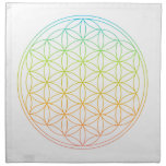 Crystal Grid Cloth - Flower Of Life<br><div class='desc'>Flower of life sacred geometry template for DIY crystal grids.</div>