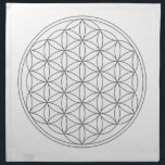 "Crystal Grid Cloth - Flower Of Life<br><div class=""desc"">Flower of life sacred geometry template for DIY crystal grids.</div>"