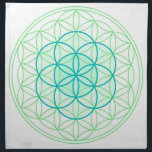 """Crystal Grid Cloth Flower &amp; Seed Of Life<br><div class=""""desc"""">Use the cloth to lay out all your healing crystal grids on.</div>"""