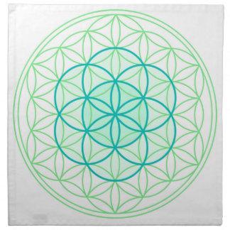 Crystal Grid Cloth Flower & Seed Of Life