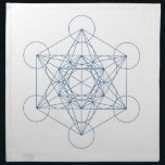"Crystal Grid Cloth - Metatron&#39;s Cube<br><div class=""desc"">Metatron&#39;s cube sacred geometry templates for DIY crystal grids.</div>"