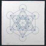 "Crystal Grid Cloth - Metatron&#39;s Cube<br><div class=""desc"">Metatron&#39;s cube sacred geometry templates for DIY crystal grids.</div>"