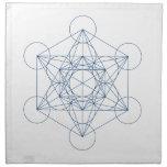 Crystal Grid Cloth - Metatron's Cube Napkin