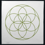 "Crystal Grid Cloth - Seed Of Life<br><div class=""desc"">Seed of life sacred geometry template for DIY crystal grids.</div>"