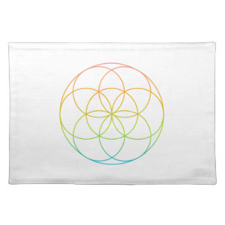 Crystal Grid Cloth - Seed Of Life Cloth Place Mat
