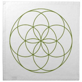 Crystal Grid Cloth - Seed Of Life Napkins