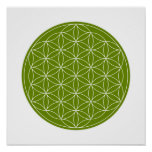 Crystal Grid - Flower Of Life Poster