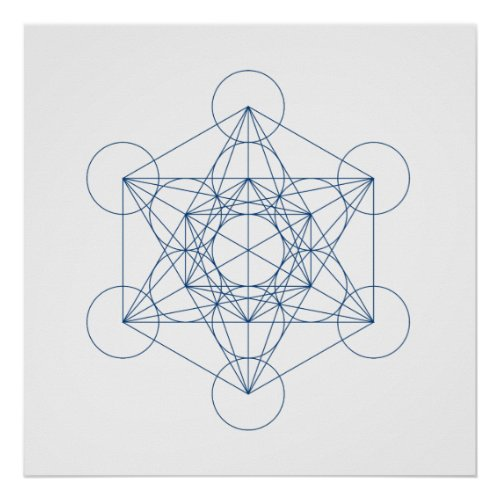 Crystal Grid _ Metatrons Cube Poster