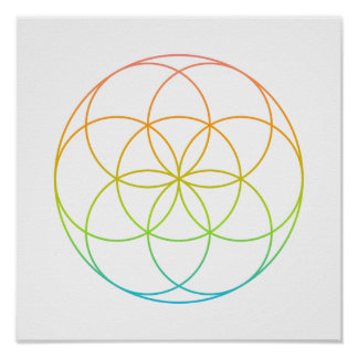 Crystal Grid - Seed Of Life Poster