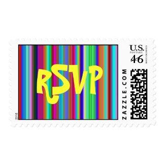 Crystal Groovy Stripes RSVP Med-LG stamp