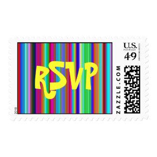 Crystal Groovy Stripes RSVP Med-LG Postage Stamps