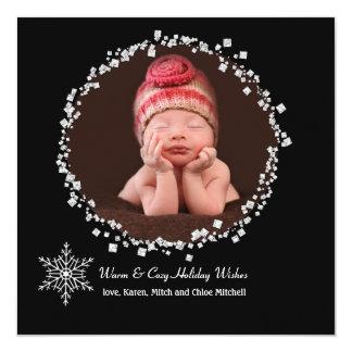 Crystal Halo - Photo Holiday Card