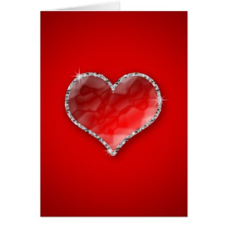 Crystal Heart Greeting Cards
