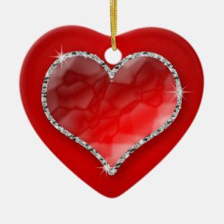 Crystal Heart Christmas Ornament