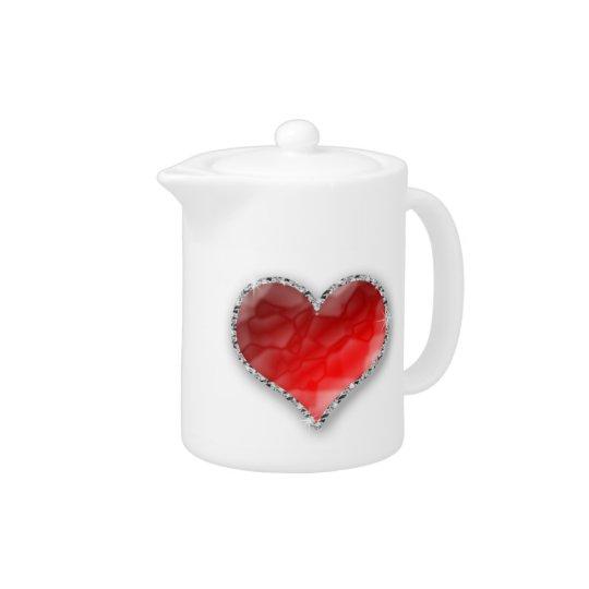 Crystal Heart Teapot