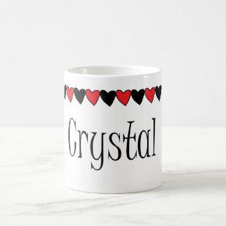 Crystal Hearts Name Coffee Mug