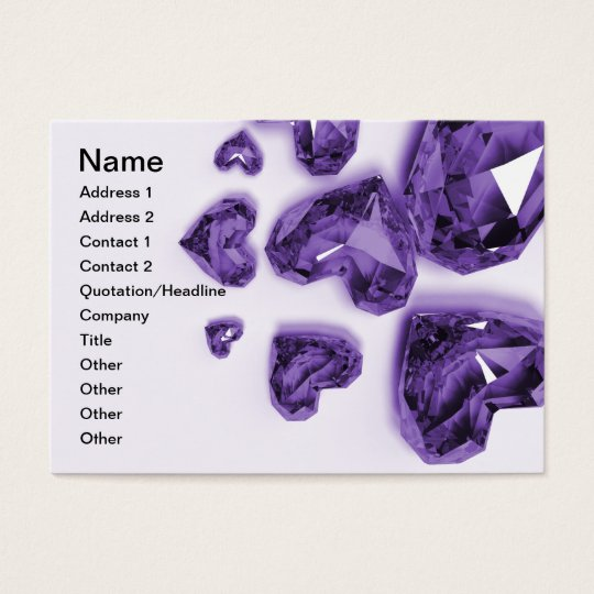Crystal Hearts - Purple Business Card