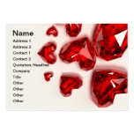 Crystal Hearts - Red Business Card Templates