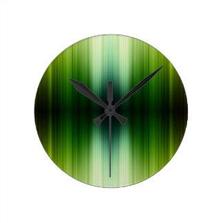 Crystal Jade esq Green Grass Blades Round Clock