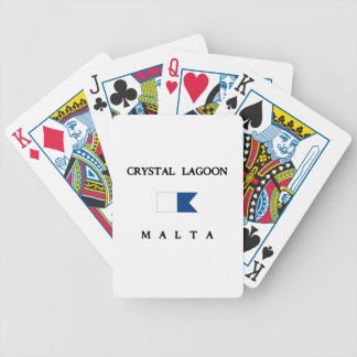Crystal Lagoon Malta Alpha Dive Flag Bicycle Playing Cards