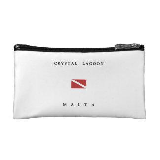 Crystal Lagoon Malta Scuba Dive Flag Cosmetic Bags