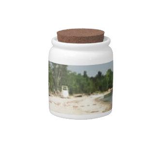 Crystal Lake, MI Candy Jar