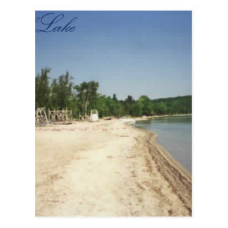 Crystal Lake, MI Postcard