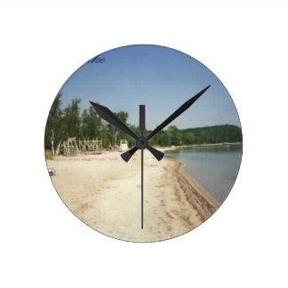 Crystal Lake, MI Round Clock