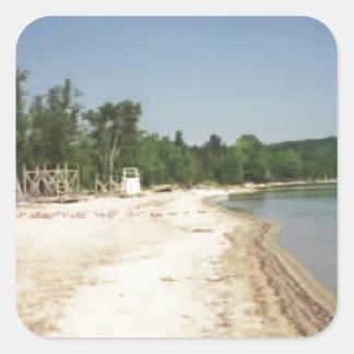 Crystal Lake, MI Square Sticker