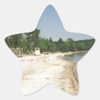 Crystal Lake, MI Star Sticker