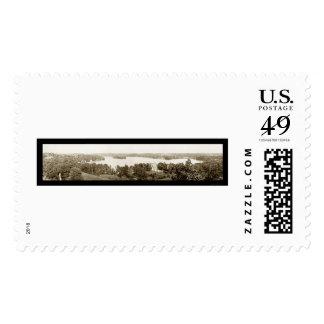 Crystal Lake Wisconsin Photo 1913 Stamp