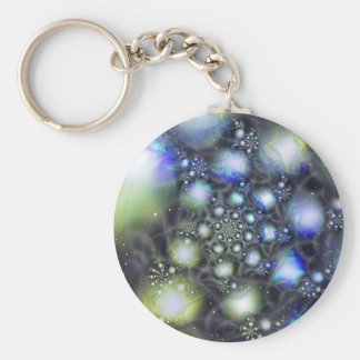 Crystal Lather Basic Round Button Keychain