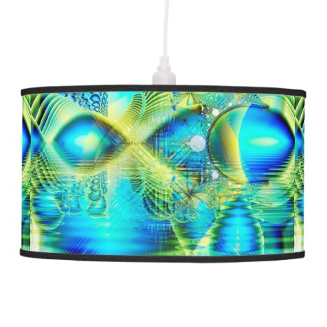 Crystal Lime Turquoise Heart of Love, Abstract Ceiling Lamp