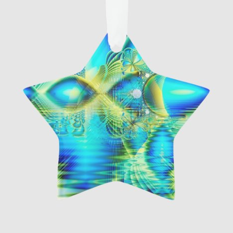 Crystal Lime Turquoise Heart of Love, Abstract Ornament