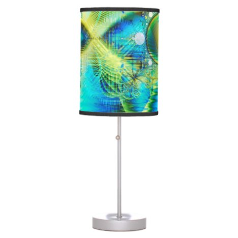 Crystal Lime Turquoise Heart of Love, Abstract Table Lamp