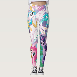 Crystal Magic Ponies Group Leggings