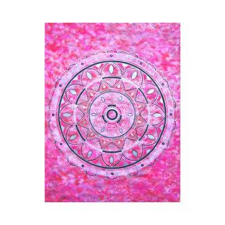 Crystal Mandala Canvas Print