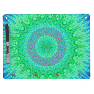 Crystal mandala dry erase board with keychain holder