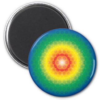 Crystal Mandala Refrigerator Magnets