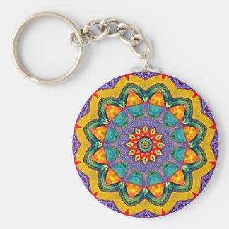 Crystal Mandala Quilt Keychains