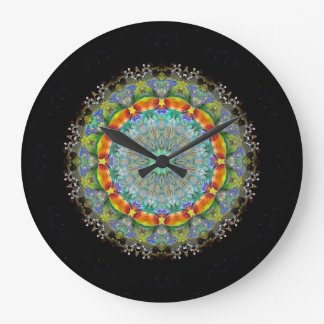 Crystal Mandala  Wall Clock